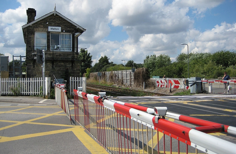 Malton Station crossing