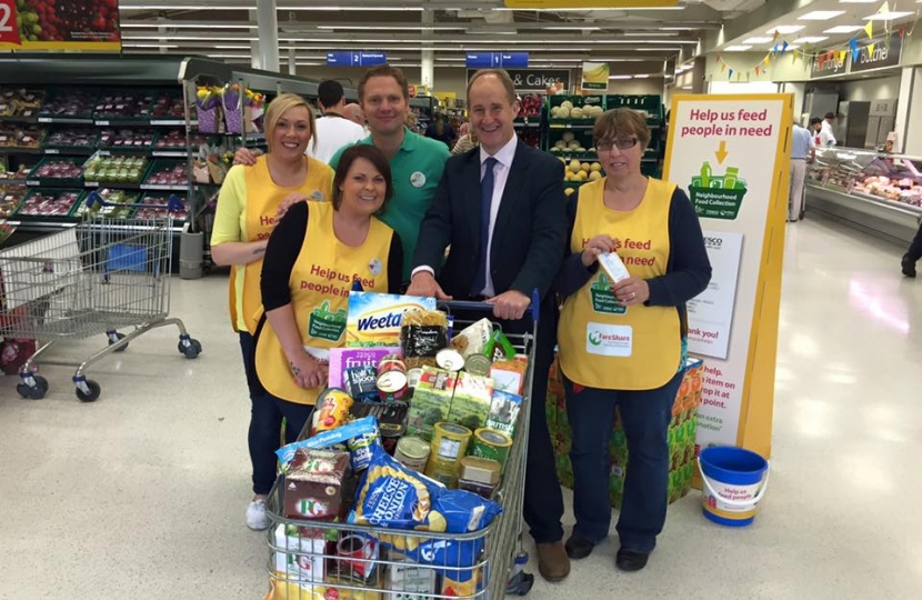 Kevin Hollinrake Supports Tesco's Help Feed People in Need Scheme