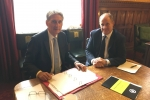 Chancellor of the Exchequer, Rt Hon Philip Hammond MP, with Kevin Hollinrake MP